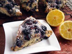 lemon blackberry scones