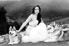 Yolandie and 2 Huskies - Gallery - Esther Reid