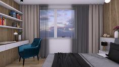 V rámci nášho nového projektu rodinného domu na Kolibe sme navrhli luxusnú spálňu s praktickým pracovným kútom a uložným priestorom. #avedesign #interierovydesign #navrhinterieru #bratislava #interiorstylist #spalna #bedroomdesign #koliba #moderndesign #interiorforinspo #designinterior #modernhouse #novostavba #housebeautiful #housegoals #moderninteriors #slovakarchitecture #architecturelovers #visualisation #rendering #interior #interiordesign Bratislava, Curtains, Bedroom, Luxury, House, Beautiful, Home Decor, Blinds, Decoration Home