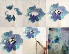 The popularity of watercolor and its scope of influence continues to grow. Fabric Yarn, How To Dye Fabric, Dyeing Fabric, Acrylic Painting Lessons, Fabric Painting, Watercolor Fabric, Abstract Watercolor, Diy Projects For Beginners, Textiles