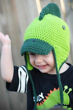 Little Dino #Crochet Hat Pattern