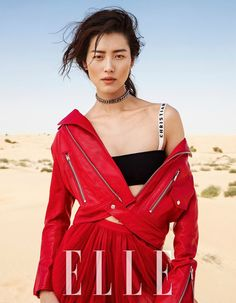 Liu Wen - Elle China Março 2017