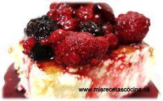 Postres Thermomix Tarta de Queso Con Salsa de Frutos Rojos