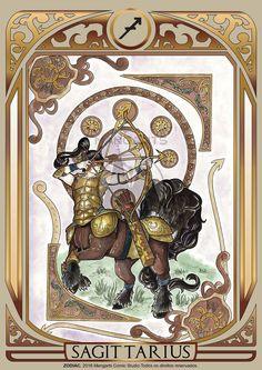 Print art with Sagittarius male of ZODIAC project developed by Mangarts Comic Studio. Zodiac Art, Zodiac Horoscope, Horoscopes, Tarot, Major Arcana Cards, My Photo Gallery, Zodiac Star Signs, Bedroom Art, Sagittarius