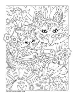 Mother And Child Fanciful Foxes Coloring Book I Marjorie Sarnat