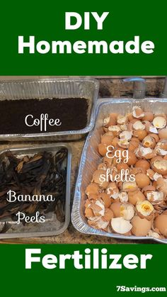 DIY Homemade fertilizer for plants, How to make homemade organic fertilizer using only banana peels, egg shells and coffee grounds. it is simple and easy to make.#fertilizer #homemadefertilizer #diy #eggshellfertilizer Homemade Plant Fertilizer, Home Made Fertilizer, Fertilizer For Plants, Organic Fertilizer, Organic Gardening, Vegetable Gardening, Vegetable Garden For Beginners, Gardening For Beginners, Gardening Tips