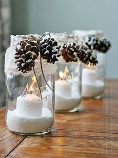 20 Magical Ways to Use Mason Jars This Christmas. #DIY #Holiday idea from @goodhousemag