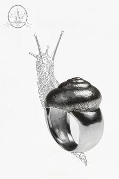 Bague escargot Argent 925 Moulage  Création Bijouterie & Charcuterie Charcuterie, Rings For Men, Wedding Rings, Engagement Rings, Jewelry, Snail, Bijoux, Enagement Rings, Men Rings