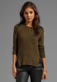 Joe Military Knit in Army Green