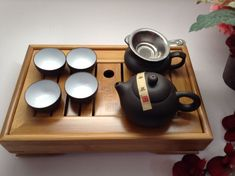 Beautifully crafted Yixing Tea Set with Tea Tray by MusicCityTeas.