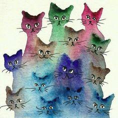 #Arte ☆ #Ilustração * #Felinos * Gatos *