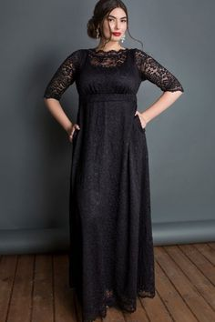 Plus Size Black Maxi Dresses With Sleeves - Classic Styles in Plus . Plus Size plus size lace maxi dress Mother Of The Bride Plus Size, Mother Of The Bride Dresses Long, Occasion Maxi Dresses, Maxi Gowns, Plus Size Gowns, Plus Size Maxi Dresses, Wrap Dresses, Ivory Dresses, Peplum Dresses