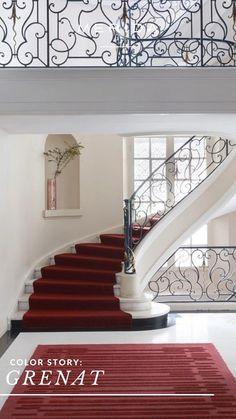 Rug Inspiration, Interior Design Inspiration, Interior Stairs, Area Rugs, Home Decor, Bedroom, Rugs, Decoration Home, Room Decor