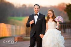 The Bride and Groom smiling at Carlyle on The Green Long Island New York