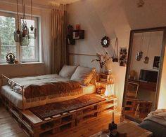 Cute and Modern Bedroom Interior Design Ideas 2018 Part bedroom ideas; bedroom ideas for small room; Room Ideas Bedroom, Small Room Bedroom, Home Bedroom, Bedroom Decor, Master Bedroom, Linen Bedroom, Small Rooms, Bed Linen, Bedroom Curtains
