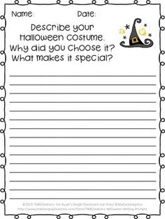 These Halloween Writing prompts are a fun way for your students to practice writing and celebrate Halloween!
