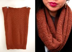 (studs and pearls): diy: Sweater Tube Scarf