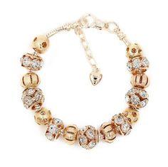 La Mia Cara Jewelry - Gigliola - Crystal Gold Pandora Charm Bracelet