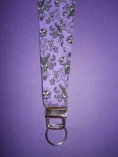 Disney Haunted Mansion Fabric Lanyard ID Badge by APieceoftheMagic, $10.00