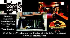 Barrio Central in London's Soho district has selected our Chef Series Triples to enhance their Taco Platter Presentation for their customers. The Chef Series is being accepted internationally by chefs and restaurants as the premiere Taco Server. If your establishment wants a quality taco small-wares, designed with form and function, stop by our site www.TacoRack.com and see which will work best for you! Remember, wholesale prices are available to the professional chefs!