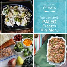 Relax and sit down to a satisfying bowl of One Pot Italian Chicken or Stuffed Pepper Casserole with this Paleo Mini February 2015 Menu. | Paleo Mini February 2015 Menu | Once A Month Meals | OAMC | Freezer Cooking | Freezer Meals | Customized Shopping List | Custom Serving Menus | Pre-planned Menus | Customize your own!