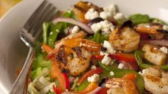 Sweet grilled shrimp star in this salad from Lulu's Restaurant in Gulf Shores, Ala.