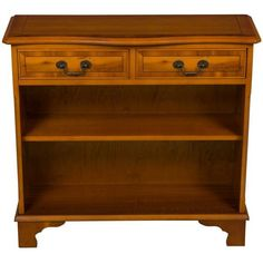 Antique Style Yew Wood Bookcase with Drawers ($645) ❤ liked on Polyvore featuring home, furniture, storage & shelves, bookcases, vintage style bookcase, yew furniture, drawer furniture, antique looking furniture and vintage style furniture