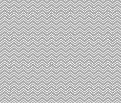 chevron no2 grey and white fabric by misstiina on Spoonflower - custom fabric