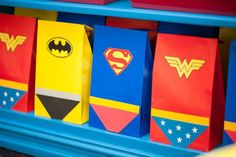 Super hero party bags