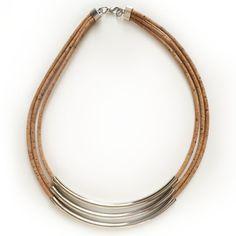 Cork cord necklace