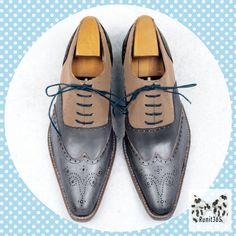 Stay on top of your style  ✅ Smart Sweet - blue and beige men's oxford shoes for just $275.99.    Order here 🎯    #trendy #leather #shoes #laceupshoes #runyourstyle #handmadeshoes  #classy #leathershoes #highquality #runit365