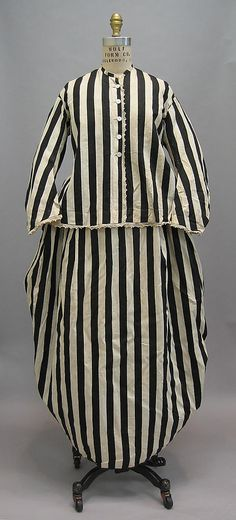 Beachwear: late 1860's–early 1870's, French, cotton.    Found in Bourdeaux (Provenance provided by vendor, Cora Ginsburg, LLC)