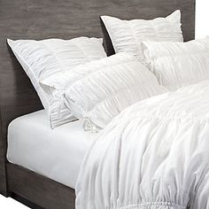 Bella Bedding - White Queen Duvet & 2 Standard Shams $190 #zgallerie