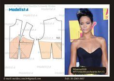 this gives me an idea Lingerie Patterns, Dress Sewing Patterns, Sewing Patterns Free, Clothing Patterns, Pattern Draping, Bodice Pattern, Top Pattern, Techniques Couture, Sewing Techniques