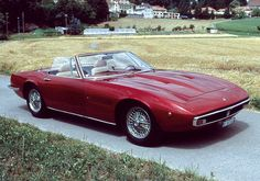 Maserati Ghibli SS Spyder. The best looking convertible ever designed.