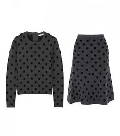 Thakoon Addition Polka-Dot Wool-Blend Sweater and Skirt