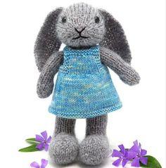 Cute knit bunny