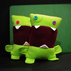 Mini Mr Big Mouth Button Eyes by amonstertolove on Etsy, $25.00