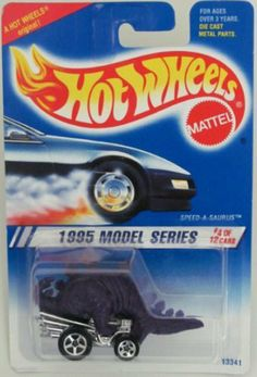 1995 #4 Speed-A-Saurus Purple 5-Spoke Mint 1995 New Models #345 1:64 Scale by Mattel. $7.99. A Perfect Addition To Any Hot Wheels Collection!. Fun For All Ages! Serious Collectors And Kids Alike!. Perfect Hot Wheels Diecast for every collector!. Great Investment For Any Hot Wheels Collector.. Diecast Metal Hot Wheels Car Perfect For That Hot Wheels Collector!. 1995 #4 Speed-A-Saurus Purple 5-Spoke Mint 1995 New Models #345