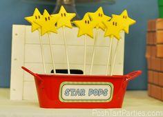 Star Pops -  Super Mario Birthday Party