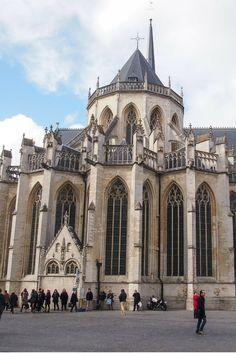 The massive St. Peter's Cathedral in Leuven, Belgium http://discoveringbelgium.com/2014/10/27/st-peters-church-leuven/