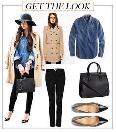 Get the look: Denim and Camel