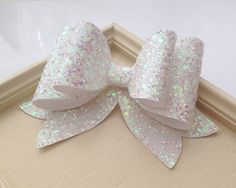 Items similar to Oversized White Glitter fabric bow hair clip -Girl and Adult extralarge hair bow, Great for all ages. on Etsy Glitter Hair, Glitter Fabric, White Glitter, Glitter Lipstick, Fabric Hair Bows, Baby Hair Bows, Hair Bow Tutorial, Making Hair Bows, Diy Bow