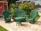 For Sale - antique vintage fancy victorian style WICKER FURNITURE set patio home