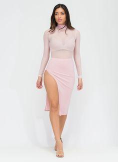 Smooth Criminal Slit Skirt #slit #skirt #smooth #sexy #blush #gojane
