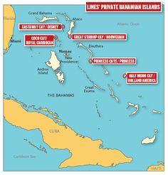 Krydstogt guide – Destinationer – Eventyrrejser - Krydstogtselskabernes private øer i Bahamas