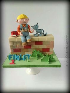 Bob the Builder cake by Fat Cakes