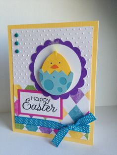 Easter Card (Punch Art), love the bright colors--simple layout.