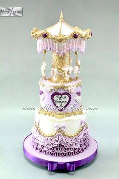 Purple Carousel Cake by MLADMAN
