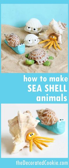 seashell creatures summer craft idea for kids or adults is part of Beach crafts For Girls - seashell creatures summer craft idea for kids or adults a cute, crafty way to use those sea shells collected from the beach this summer video Sea Animal Crafts, Sea Crafts, Animal Crafts For Kids, Fish Crafts, Adult Crafts, Resin Crafts, Yarn Crafts, Decor Crafts, Beach Crafts For Kids